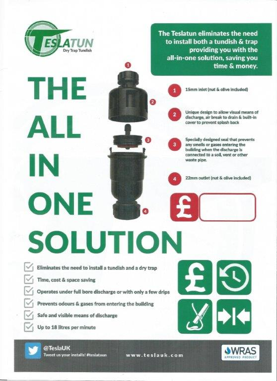 Tundish and condense traps for boilers and unvented cylinders from ...